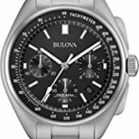Bulova Men's 96B251 Chronograph Stainless Steel and Leather Special Edition Moon Watch: Amazon.ca: Watches