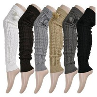 Thigh High Knitted Leg Warmers -6 Color Options-