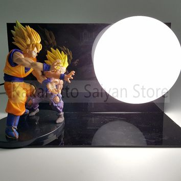 Dragon Ball Z Action Figures Goku Gohan Father Son PVC Anime Dragon Ball DIY Collectible Model Toy Esferas Del Dragon+Ball+Base