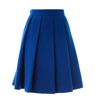 Ten pleat wool skirt