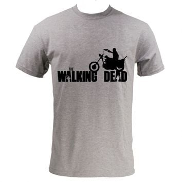 Walking Dead Daryl on Motorcycle T-Shirt