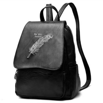 Cool Backpack school COOL WALKER Brand Preppy Style Leather School Backpack Bag For College Simple Design Women Casual Daypacks Mochila Rucksack AT_52_3