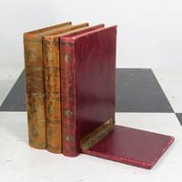 Wonderful Faux Book Bookend . Vintage Book End . Italy . Leather . Hinged