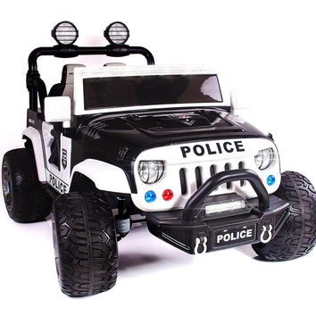 SUV Explorer 12V Kids Ride-On Toy Car Truck With R/C Parental Remote | Police