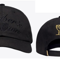 Drake OVO Octobers Very Own Black Hat Sport Cap Strap Back Cap Men Women Gold Owl Denim Trucker Hat