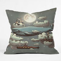 Terry Fan Ocean Meets Sky Throw Pillow