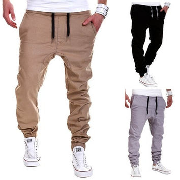 Men's Lace-up Pants Outdoor Baggy Loose Trousers [8270473473]