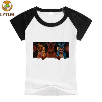 LYTLM 5 Nights at  T Shirts Summer Top White Boys T-shirt Five Night At Freddy Boys Toddler Tops Kids T-shirts Girl 2018
