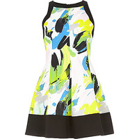 River Island Womens Green abstract print skater dress