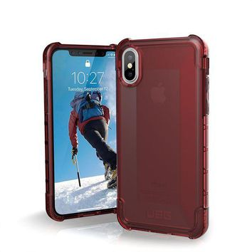 DCCKRQ5 UAG iPhone X Plyo Feather-Light Rugged [CRIMSON] Military Drop Tested iPhone Case