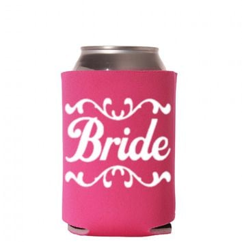 Bride Can Cooler - Future Mrs Can Cooler - Bride Drink Holder - Fiance Can Cooler Bachelorette Party Favors - Cruise Can Coolers