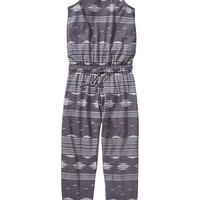 Old Navy Girls Geometric Print Jumpsuits
