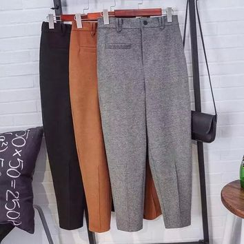 DCCK0OQ Winter Korean Slim High Rise Pants Trousers [8823583431]