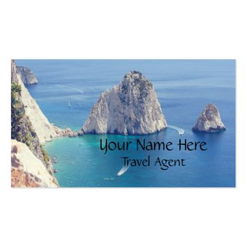 Ocean Photograph Travel Agent Professional Business Card