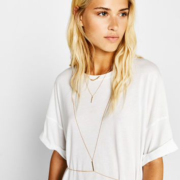 Thin chain bralette - Jewelry - Bershka United States