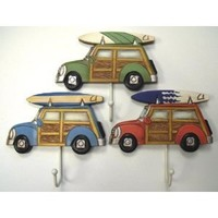 3 Woody with Surfboard Towel Hooks