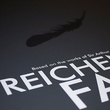 "Sherlock Art Print // ""The Reichenbach Fall"" //  Modern Television Poster"