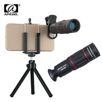 APEXEL Mobile Phone Lenses 18X Telescope Zoom Smartphone Camera Lens for iPhone Samsung universal clip Telefon with tripod