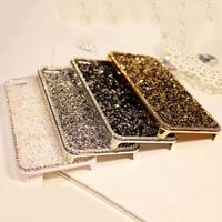 New Style Fashion 3D Luxury Bling Rhinestone Diamond Crystal Hard Cover pretty phone case for iphone 6 6s Eleagnt Lady Case 4.7""