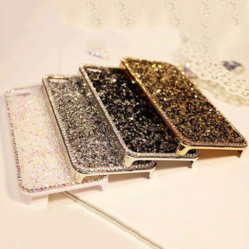 """New Style Fashion 3D Luxury Bling Rhinestone Diamond Crystal Hard Cover pretty phone case for iphone 6 6s Eleagnt Lady Case 4.7"""""""