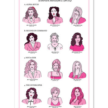 Social Hierarchy of the High School Female Art Print