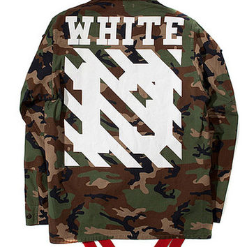 OFF-WHITE C/O VIRGIL ABLOH FIELD CAMO JACKET - A Very Based You