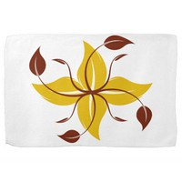 Yellow Autumn Flower Kitchen Towel