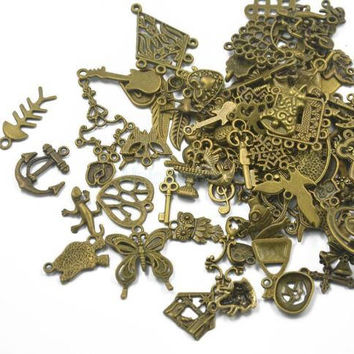 Mixed 25 pc | Antique Bronze Alloy Charms
