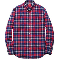 Supreme: Lightweight Flannel Shirt - Red