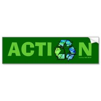 TAKE ACTION Green Lifestyle on Earth Day Sticker
