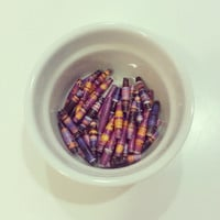 Paper Beads, 40 Handcrafted Recycled Magazine Paper Beads, Purple Paper Beads, Violet Paper Beads, Lavender Paper Beads