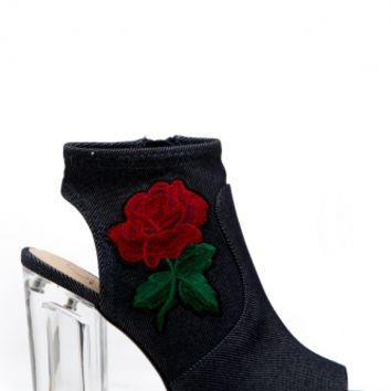 Dark Denim Rose Detailed Peep Toe Booties @ Cicihot. Booties spell style, so if you want to show what you're made of, pick up a pair. Have fun experimenting with all we have to offer!