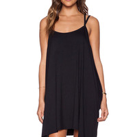 Black Double Strap Backless Dress
