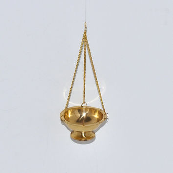 Vintage Hanging Solid Brass Incense Burner