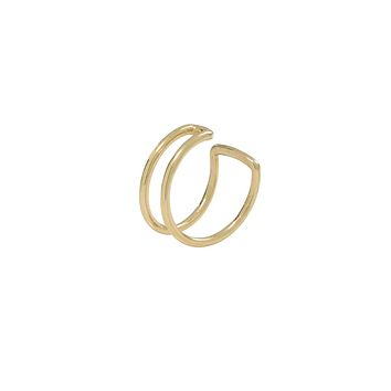 10k Solid Gold Double Line Middle Ear Cuff