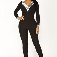 Arlena Ribbed Jumpsuit - Black