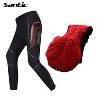 2017 Santic Winter PRO Cycling Pants Long Elastic Breathable Thermal Sports MTB Road Bike Bicycle Trousers Tights Sweatpants Men