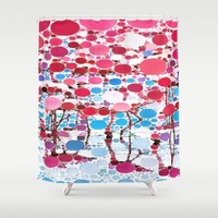 :: Flamingo Hookah :: Shower Curtain by :: GaleStorm Artworks ::