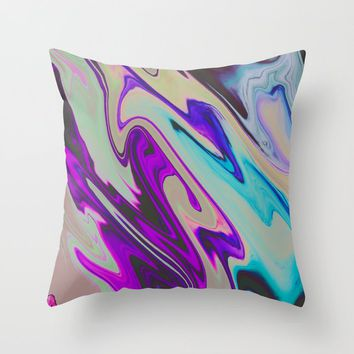 Tear Blinded Eyes Throw Pillow by duckyb