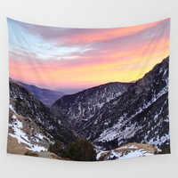 fantastic mountains Wall Tapestry by MehrFarbeimLeben