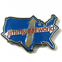 Jimmy Eat World Across America Enamel Pin Pewter Pin Badge - Pin Badges - Accessories - Rockabilia