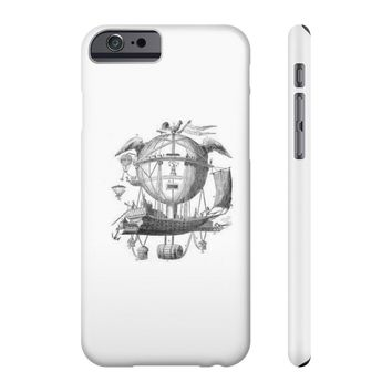 Slim Iphone 6/6s with Hot Air Balloon Flying Airship Art Print