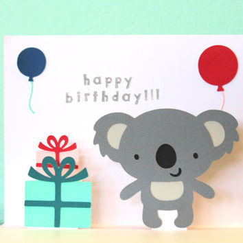 Pop Up Card - Koala - Happy Birthday