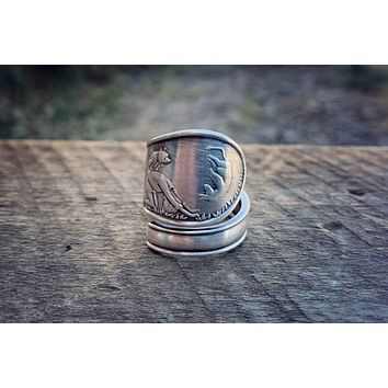 The Adventures of Christopher Robin Sterling Spoon Ring