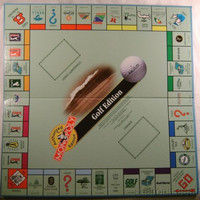 Monopoly Golf Edition Game Replacement Board 19x19 Man Cave Fathers Day Gift