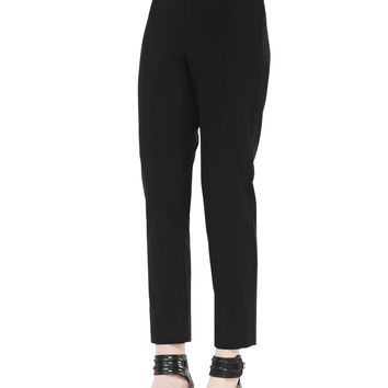 Women's Slim Crepe Ankle Pants - Eileen Fisher - Black (X-SMALL (2/4))