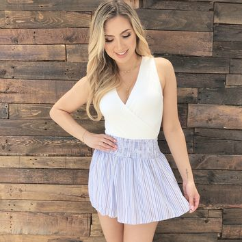 Caught In The Middle Stripe Skort