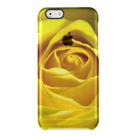 Magnificent yellow rose macro picture uncommon clearly™ deflector iPhone 6 case