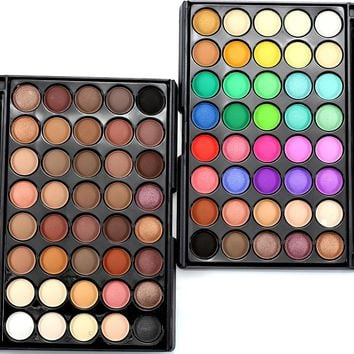 Matte Eye Shadow Palette Makeup Sets Professional Waterproof 40 Color Shimmer Powder Smoky Eyeshadow Glitter Pallette