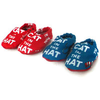 Baby Shoes Baby Booties  Dr Seuss The Cat In The Hat  by DCreated